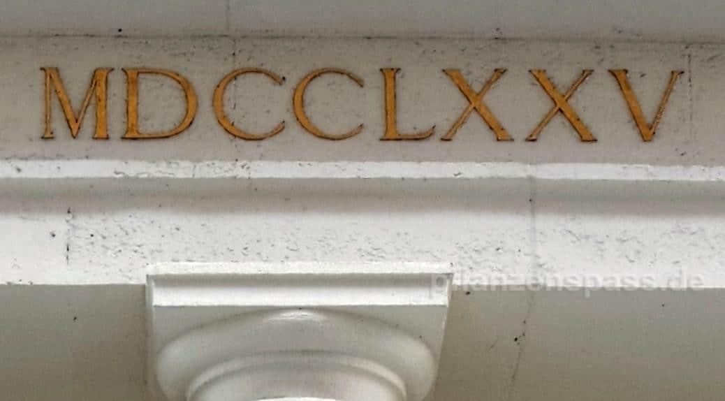 1775 Römische Zahlen MDCCLXXV