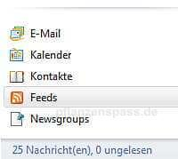 Feed in Windows Live Mail auswählen