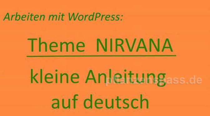 arbeiten mit Theme Nirvana deutsche Anleitung