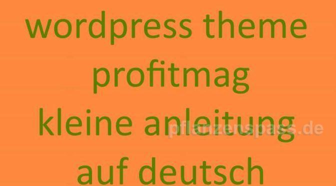 Profitmag deutsche Anleitung continue reading