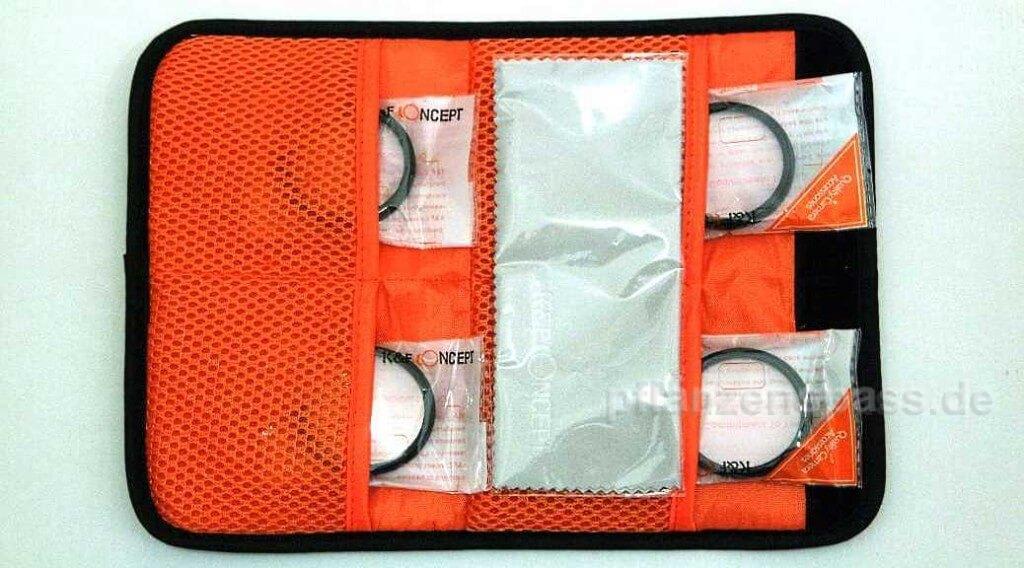 Tasche mit 4 Nahlinsen macrolinse