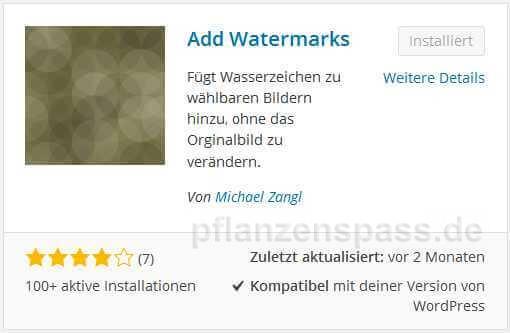 add watermarks alle Anforderungen, deutsch