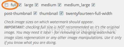 Auswahl Bildgrößen plugim Image Watermark