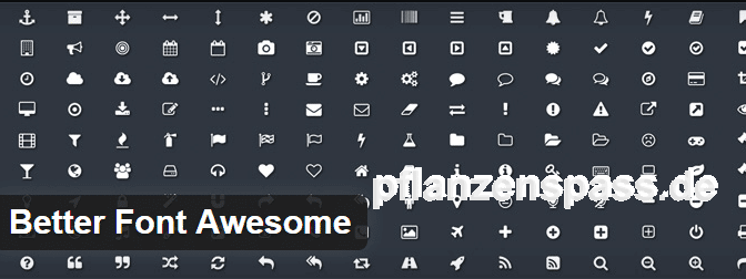 Plugin better fonts awesome