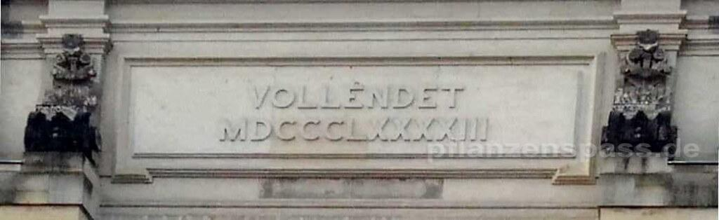 Römische Zahl Eingang Kunstakademie Dresden